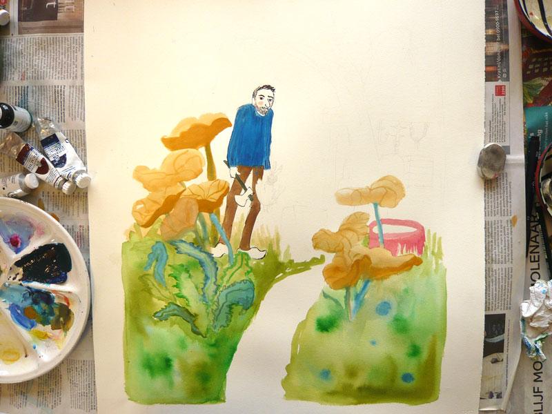 schilderij gouache