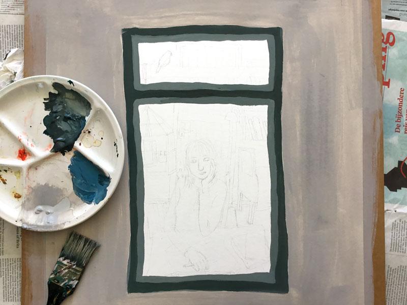 schilderij meisje