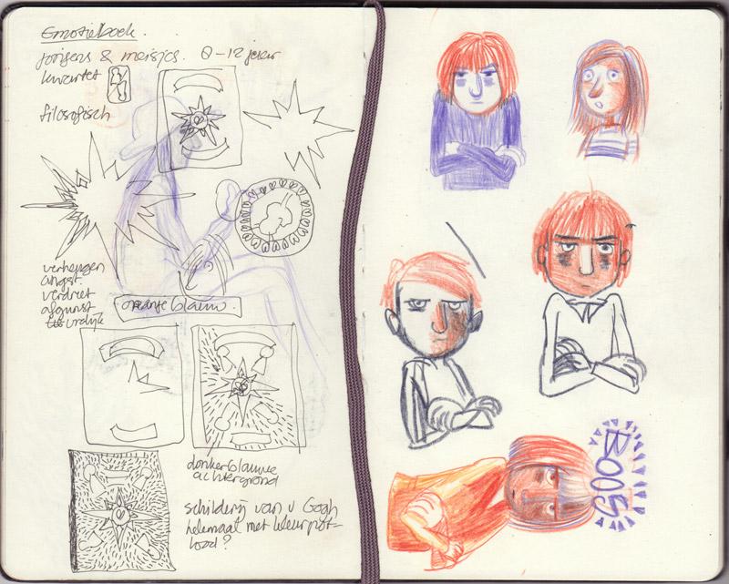 schetsen Emotieboek