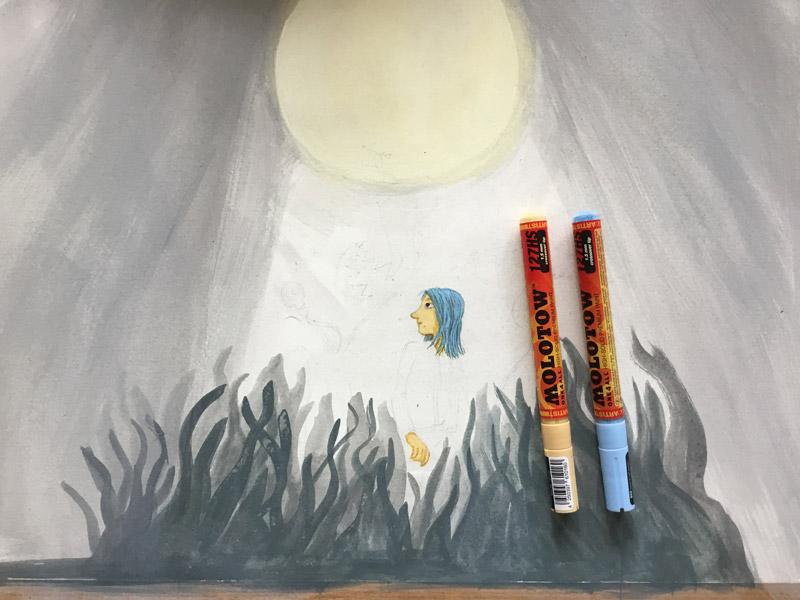 illustratie voor een boekomslag