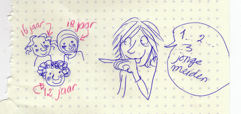 supervrouw-drie-meiden