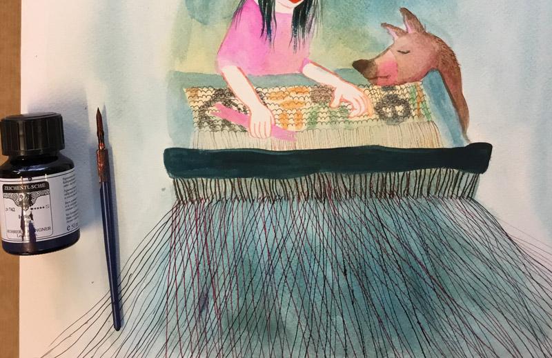 schilderij weven