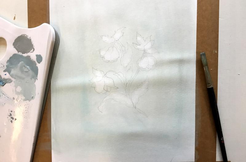 bloem schilderen