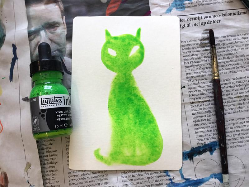 schilderen van kat