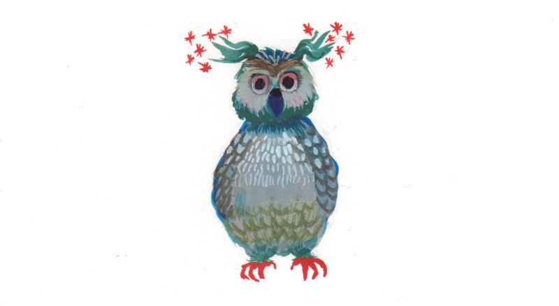 illustratie op een kerstkaart