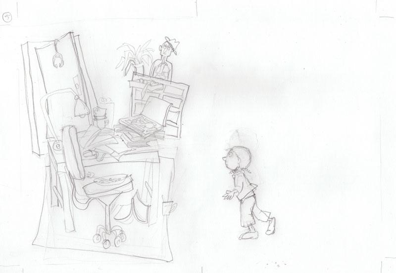 Tekening voor kinderen in ziekenhuis
