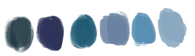 blauwe kleuren in illustratie